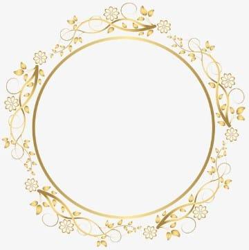bordes para tarjetas de boda circular