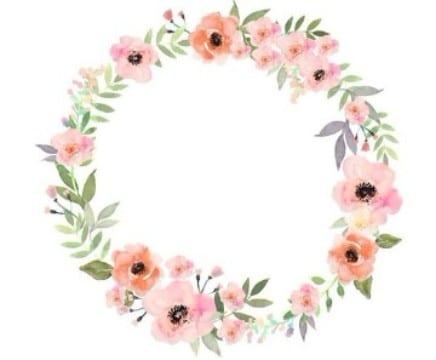 bordes para tarjetas de boda con flores