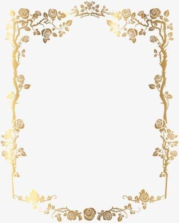 bordes para tarjetas de boda dorado