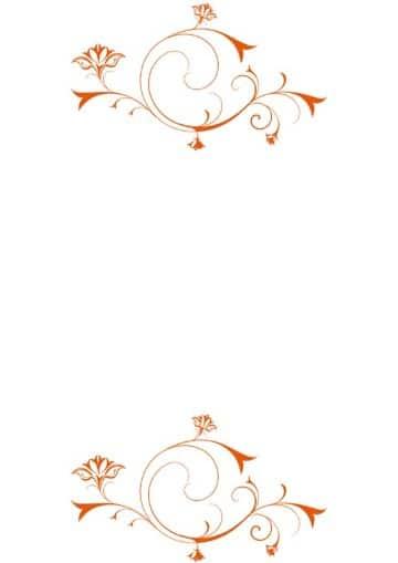bordes para tarjetas de boda en naranja