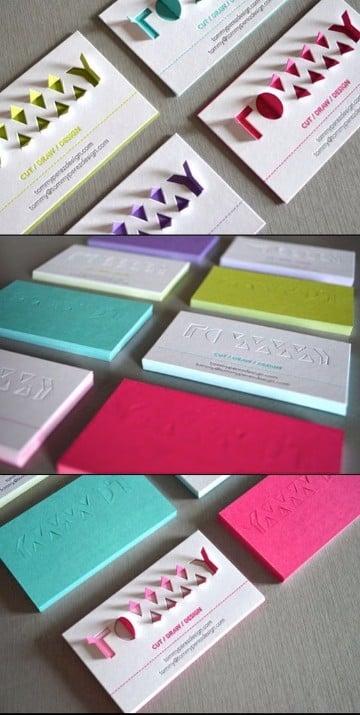 colores para tarjetas de presentacion creativas