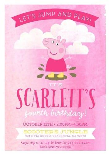 invitaciones para fiesta de niños en rosa