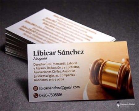 modelos de tarjetas de abogados informativas