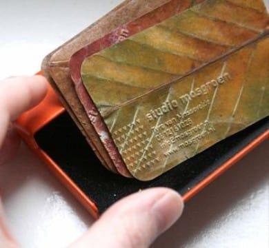 modelos de tarjetas personalizadas ecologicas