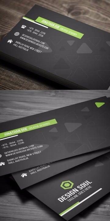 plantillas para tarjetas personales en negro
