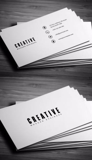 plantillas para tarjetas personales minimalista