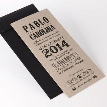 tarjetas de bodas en español sencillas
