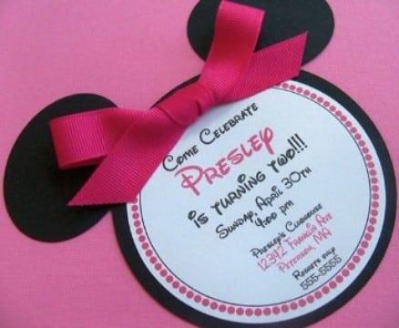 tarjetas de invitacion para niñas de disney