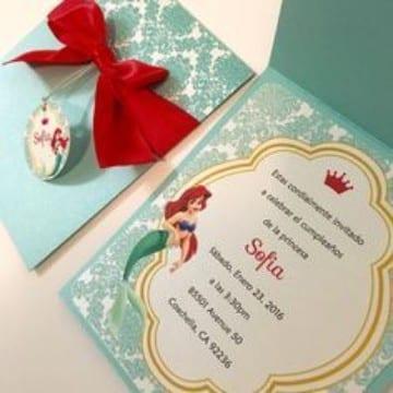 tarjetas de invitacion para niñas de princesas