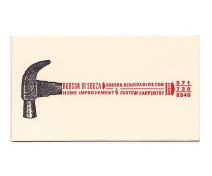 tarjetas de presentacion carpinteria originales