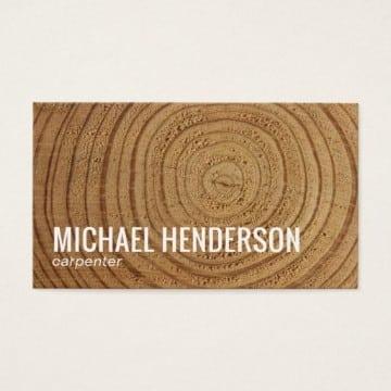 tarjetas de presentacion carpinteria sencillas