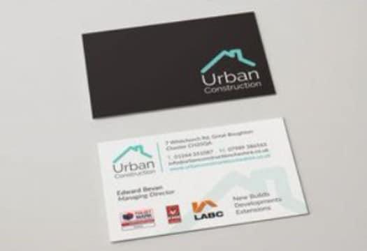 tarjetas de presentacion constructoras en negro
