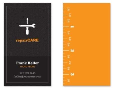 tarjetas de presentacion constructoras minimalistas