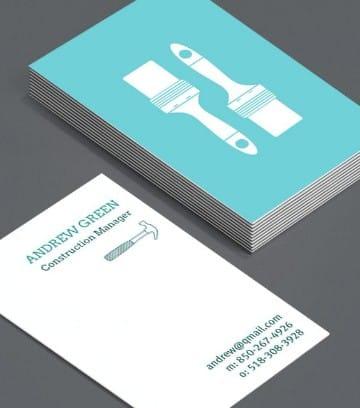 tarjetas de presentacion constructoras sencilla