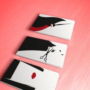 tarjetas de presentacion de peluqueria creativas