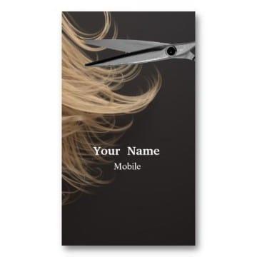 tarjetas de presentacion de peluqueria sencillas