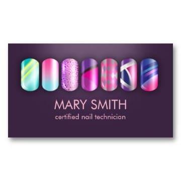 tarjetas de presentacion de uñas creativas