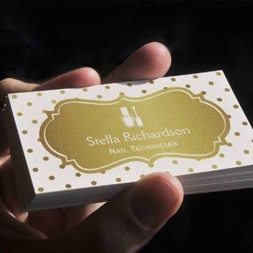 tarjetas de presentacion de uñas de dos colores