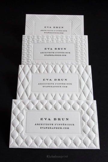 tarjetas de presentacion en blanco con troquel