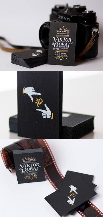 tarjetas de presentacion fotografos sencillas