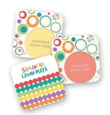 tarjetas de presentacion infantiles coloridas