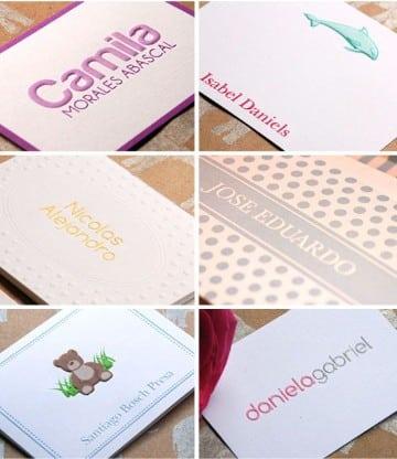 tarjetas de presentacion infantiles minimalistas