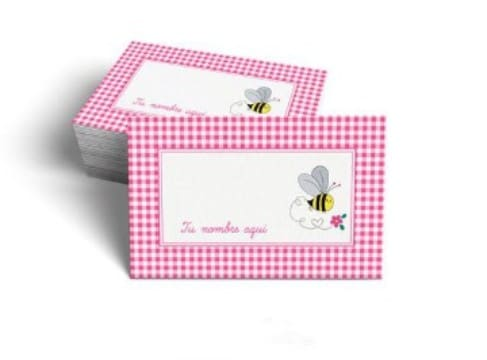 tarjetas de presentacion infantiles rosadas