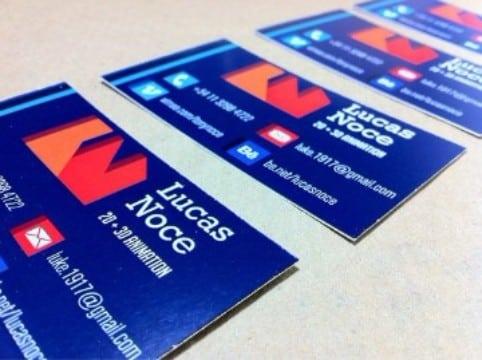 tarjetas de presentacion laminadas brillantes