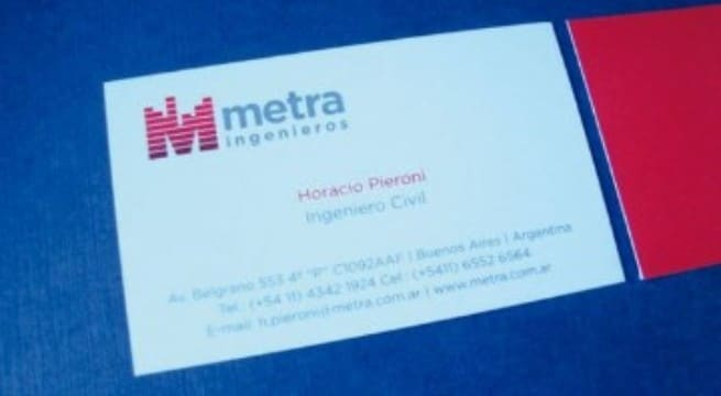 tarjetas de presentacion laminadas con mate