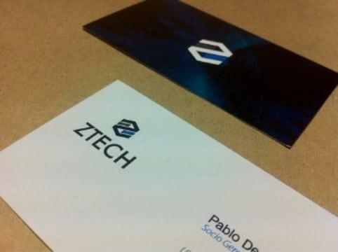 tarjetas de presentacion laminadas en blanco
