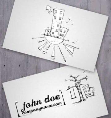tarjetas de presentacion para arquitectos originales