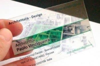 tarjetas de presentacion para arquitectos sencillas