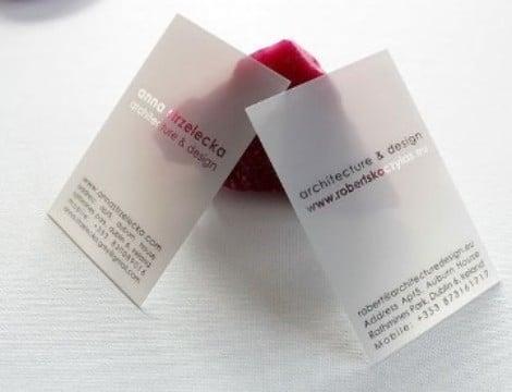tarjetas de presentacion para arquitectos transparentes
