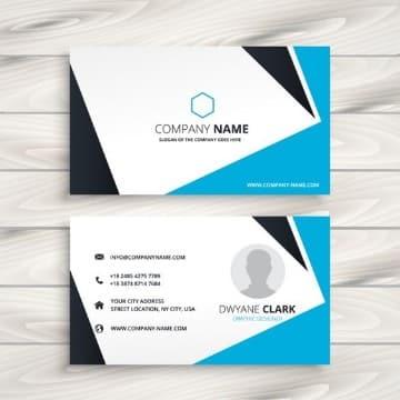 tarjetas de presentacion para contadores blanca