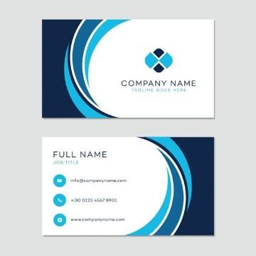 tarjetas de presentacion para contadores curvas