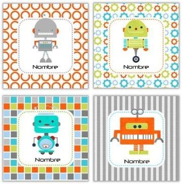 tarjetas de presentacion para niños coloridas