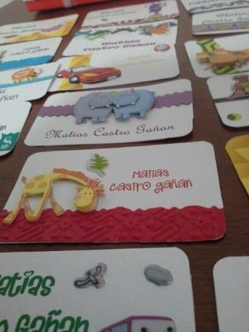 tarjetas de presentacion para niños con animalitos