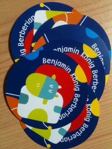 tarjetas de presentacion para niños redondas