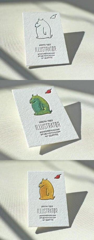 tarjetas de presentacion verticales con troquel