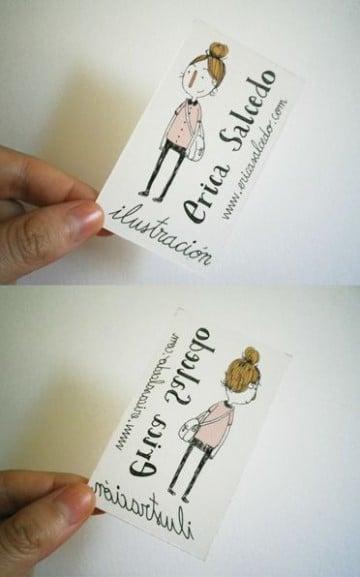 tarjetas de presentacion verticales originales