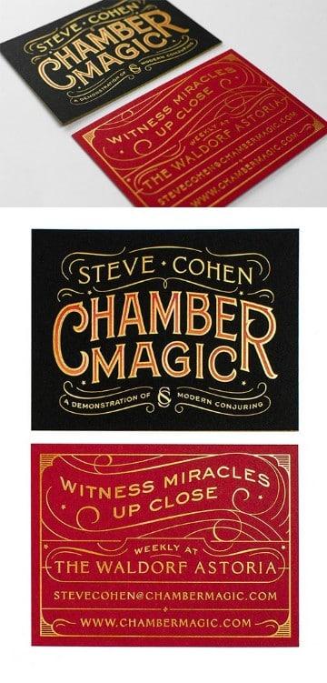 tarjetas de presentacion vintage circense