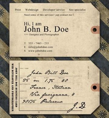 tarjetas de presentacion vintage para diseñador