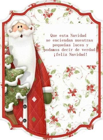 tarjetas para navidad y año nuevo con santa