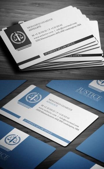 tarjetas personales de abogados con logo