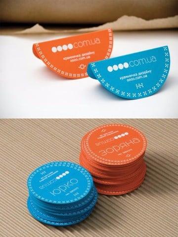 tipos de tarjetas de presentacion circulares