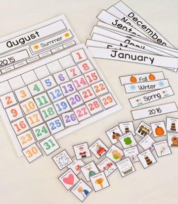 calendarios creativos para niños creativos