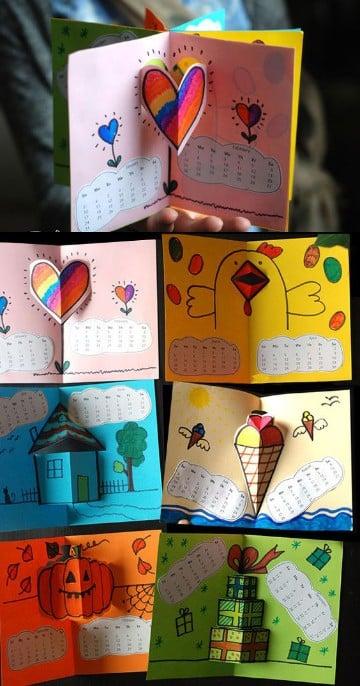 calendarios creativos para niños en el colegio
