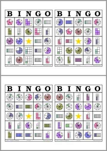 cartones de bingo para imprimir matematica
