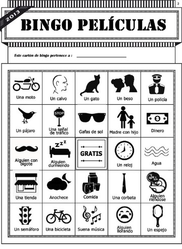 cartones de bingo para niños dinamico