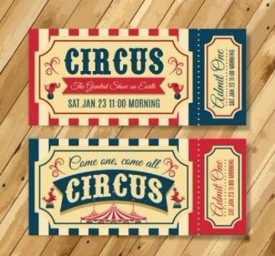 diseño de boletas para eventos circo